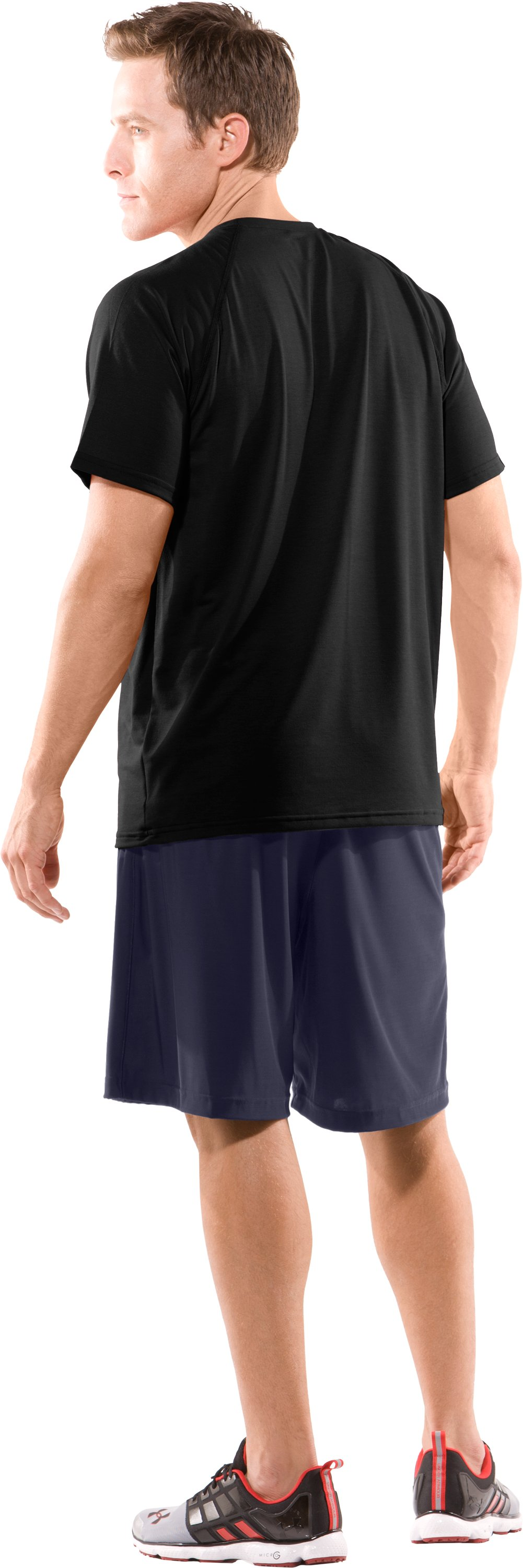 Men's Auburn UA Micro Shorts, Midnight Navy, Back