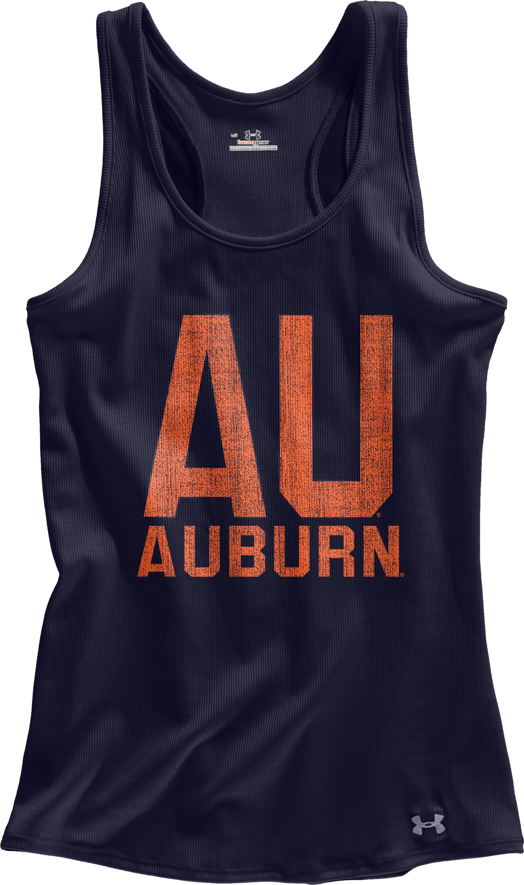 Women's Auburn UA Victory Tank, Midnight Navy, Laydown