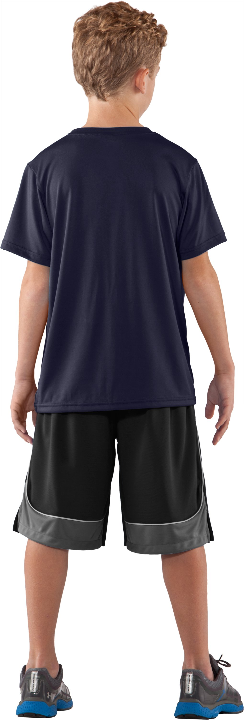Boys' Auburn UA Tech™ T-Shirt, Midnight Navy, Back