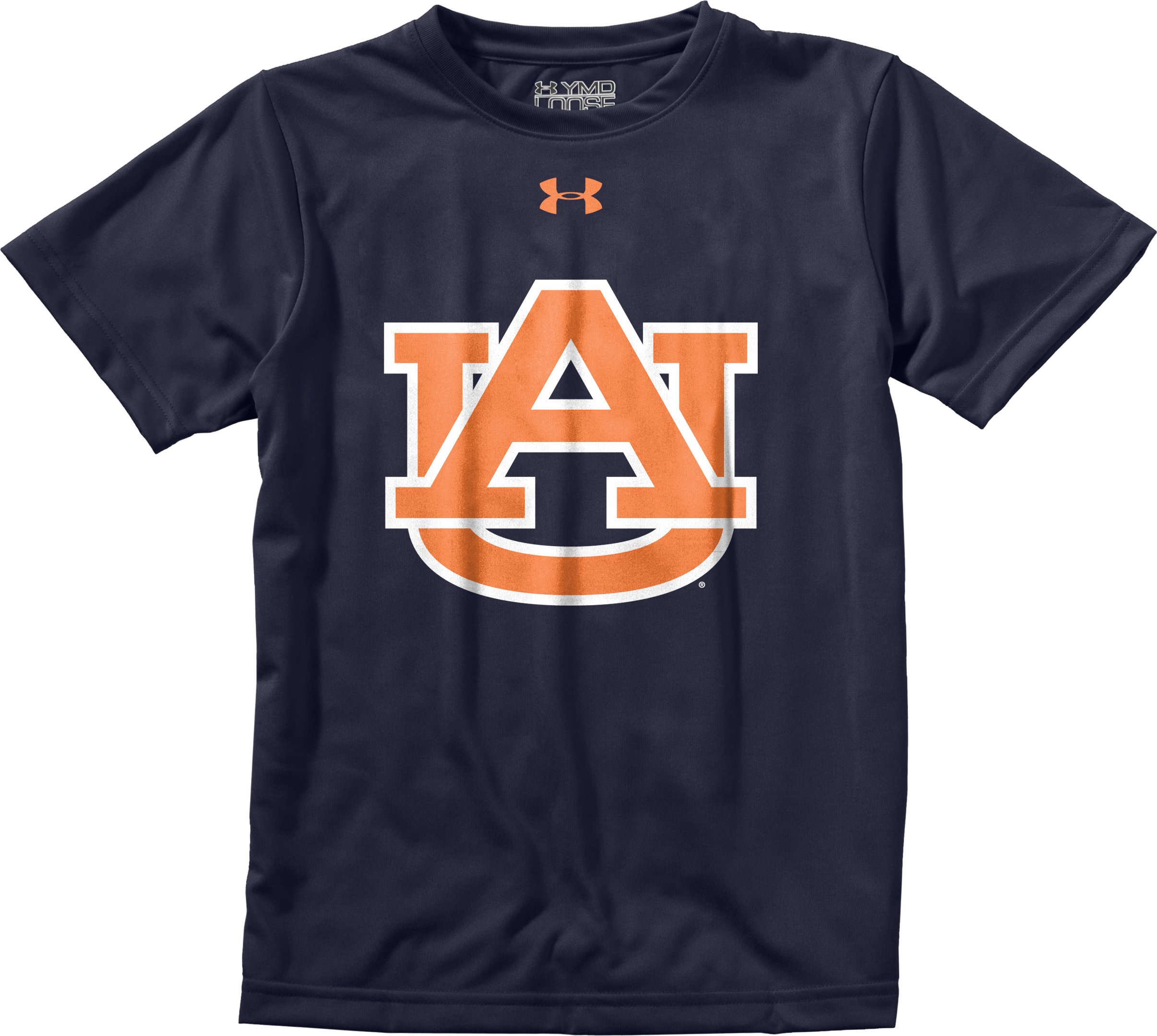 Boys' Auburn UA Tech™ T-Shirt, Midnight Navy, Laydown