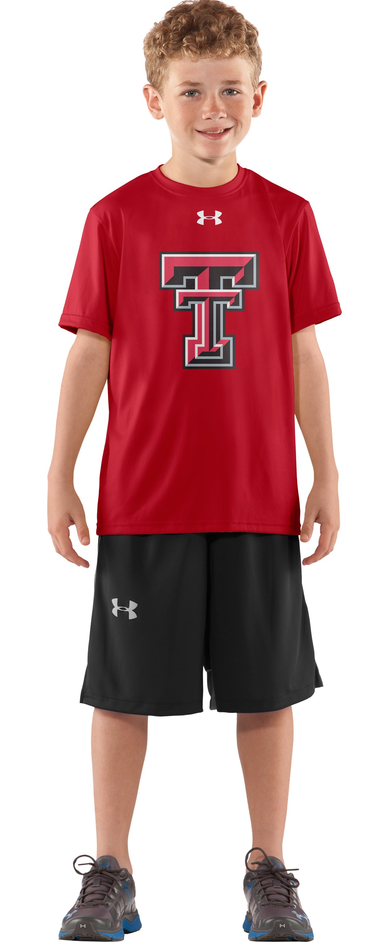 Boys' Texas Tech UA Tech™ T-Shirt, Red, Front