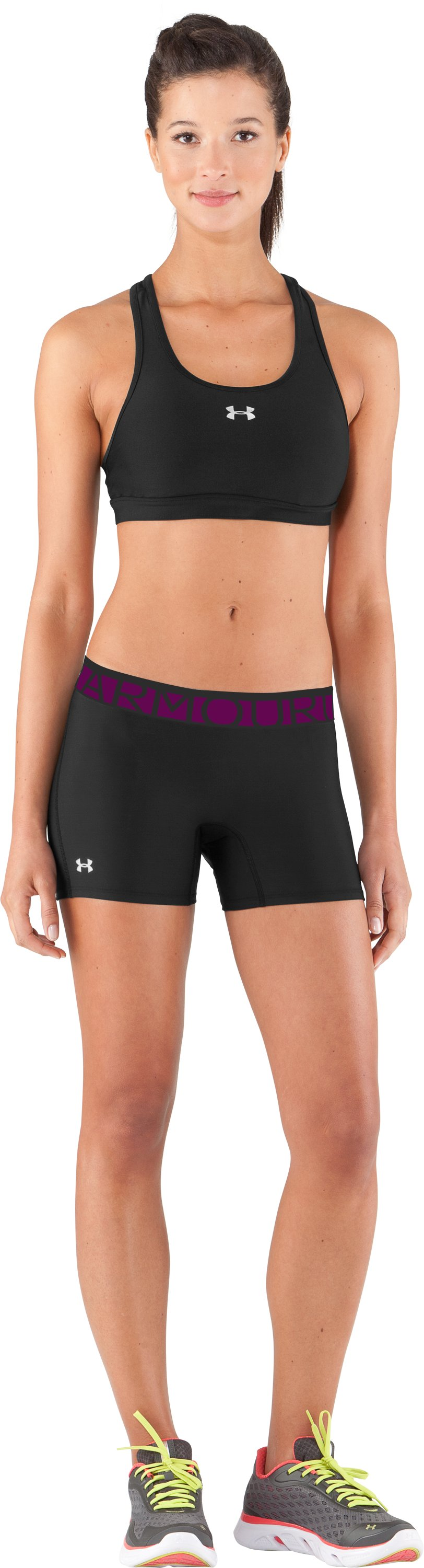 "Women's UA Still Gotta Have It 4"" Compression Shorts, Black , Front"