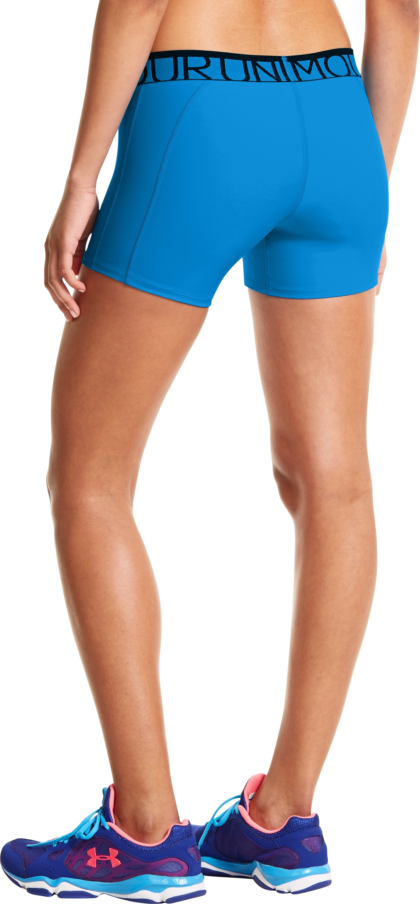 "Women's UA Still Gotta Have It 4"" Compression Shorts, ELECTRIC BLUE"