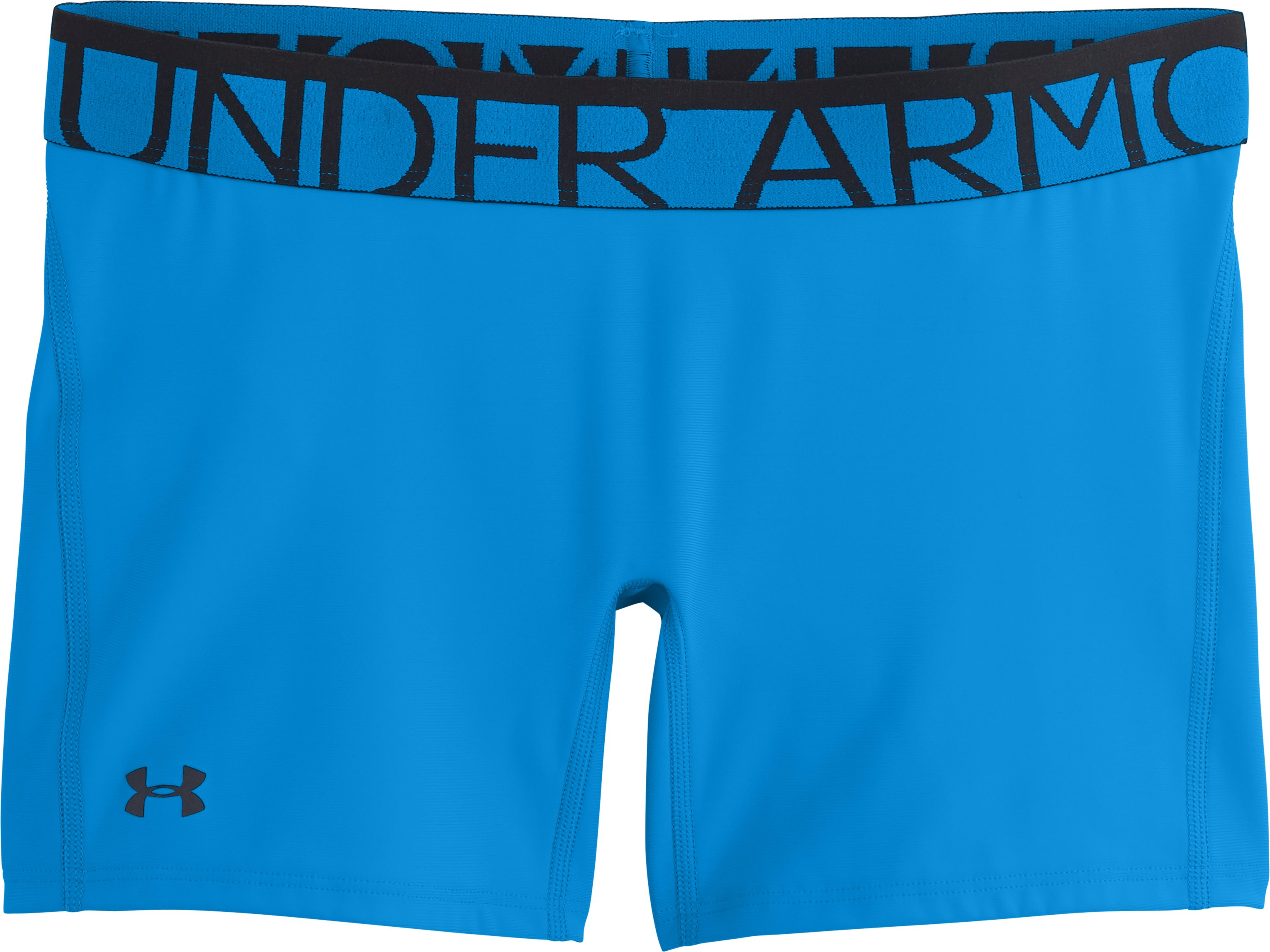 "Women's UA Still Gotta Have It 4"" Compression Shorts, ELECTRIC BLUE, Laydown"