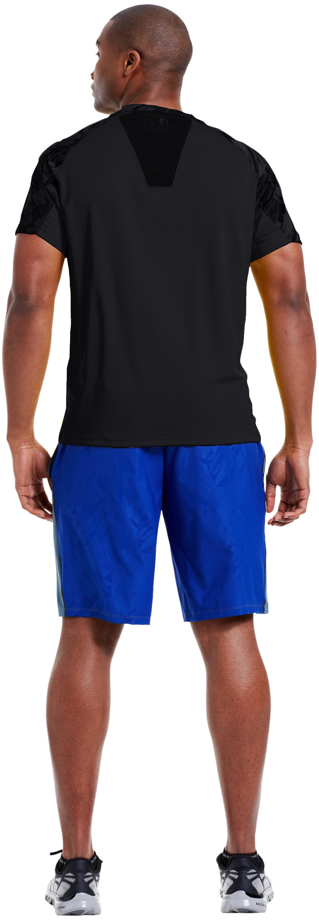 Men's UA Combine® Training Velocity Short Sleeve, Black , Back