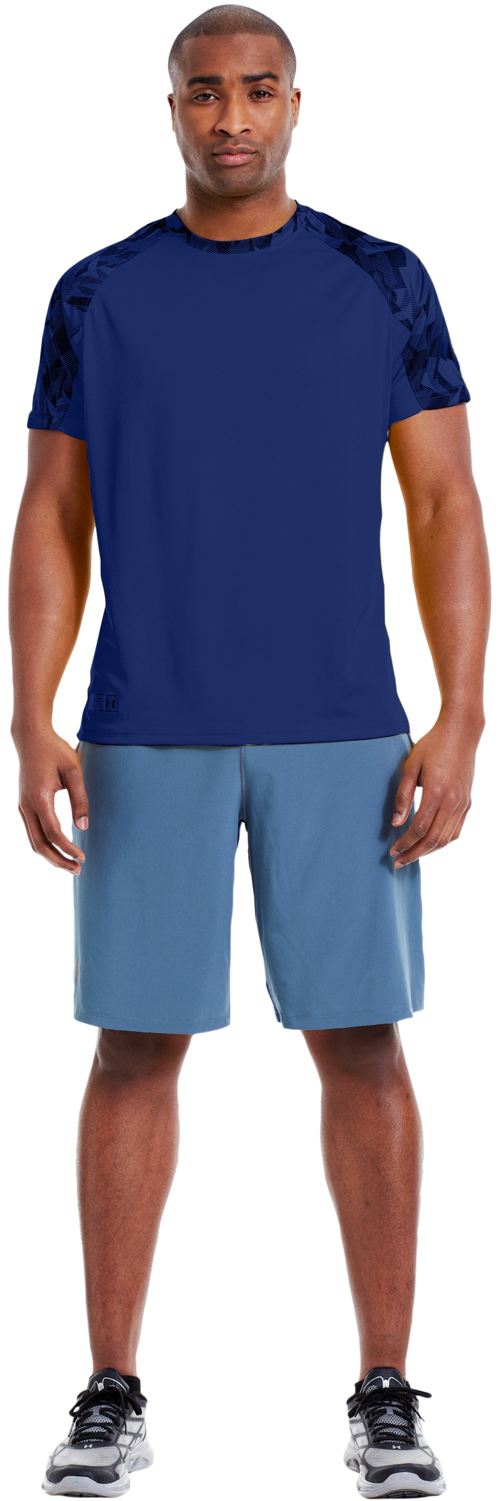 Men's UA Combine® Training Velocity Short Sleeve, Bauhaus Blue, Front