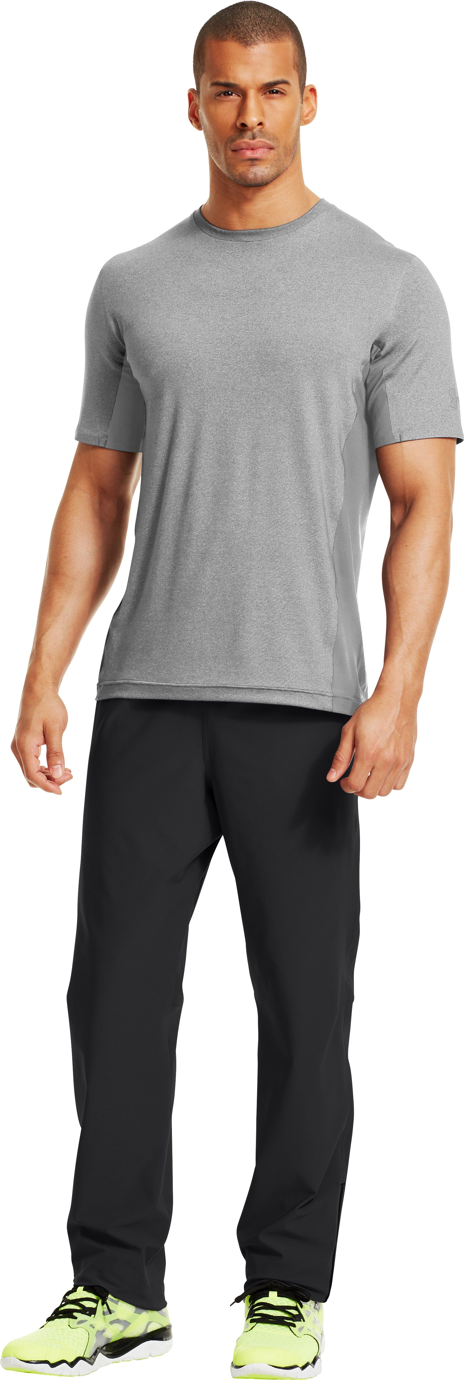 Men's UA Station Crew T-Shirt, True Gray Heather, Front