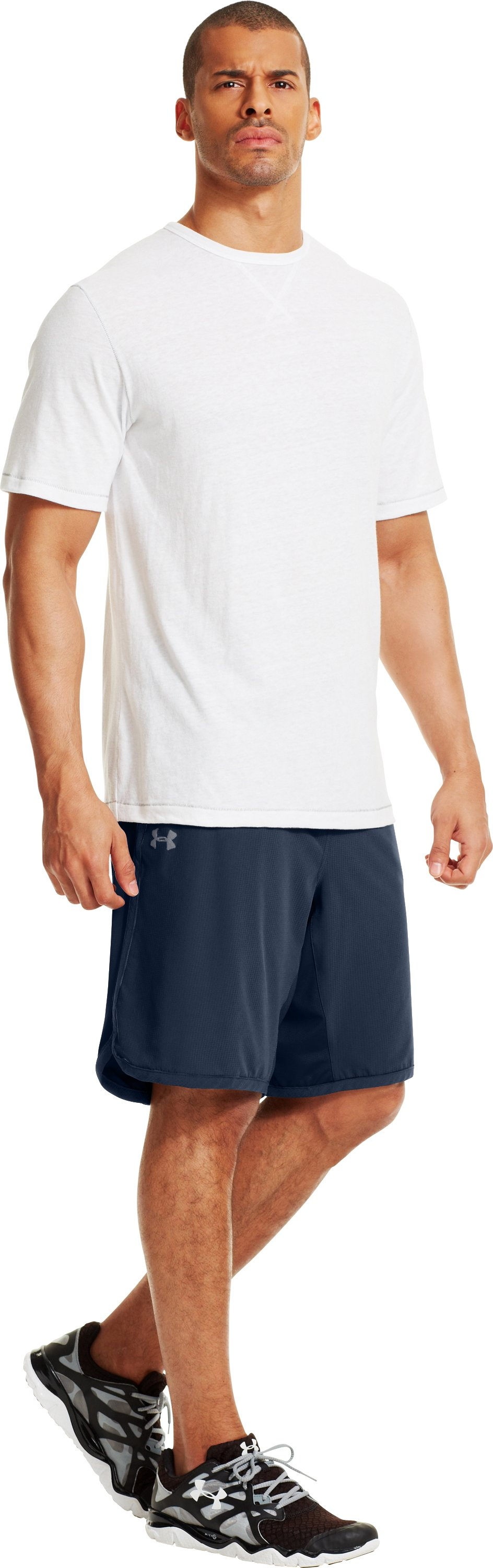 Men's UA Interval Woven Shorts, Academy, zoomed image