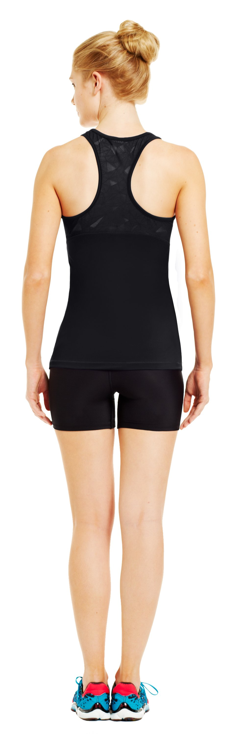 Women's HeatGear® Sonic See It Through Tank, Black , Back