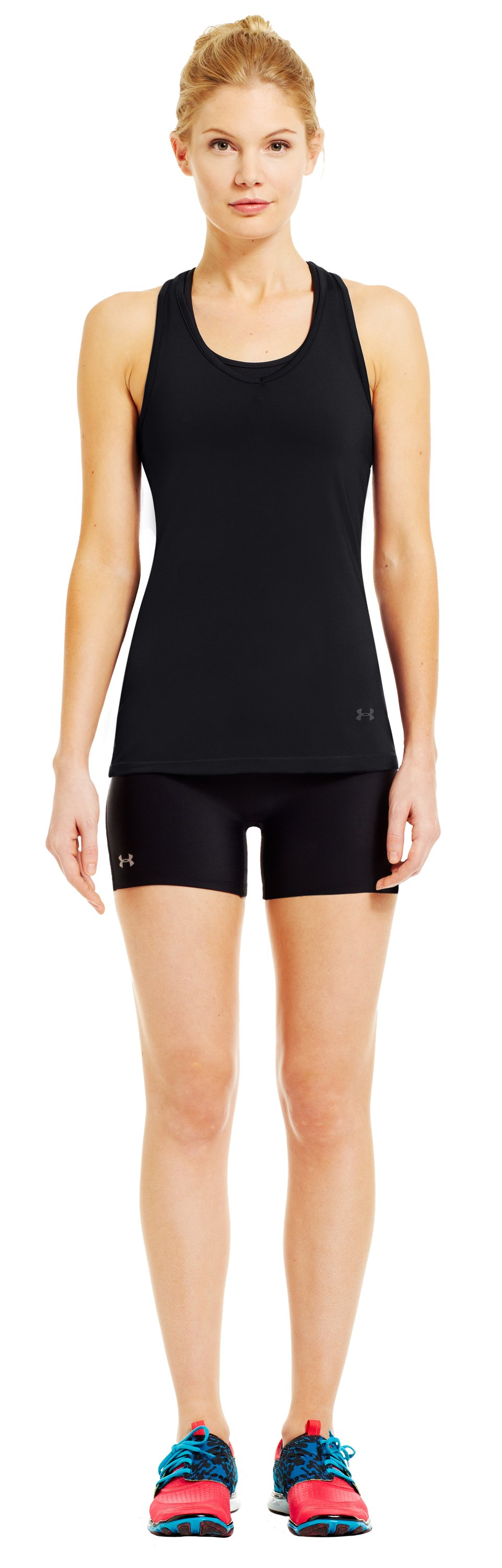 Women's HeatGear® Sonic See It Through Tank, Black