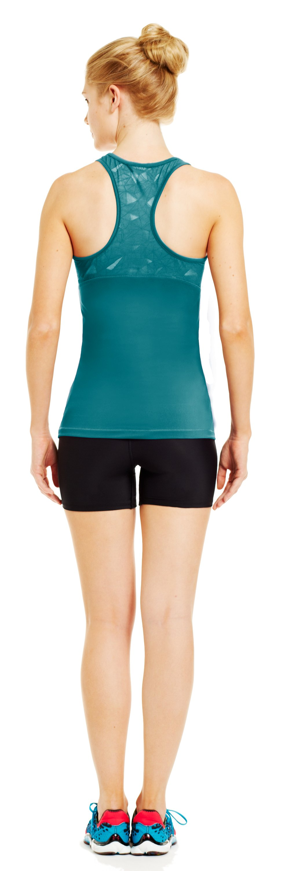 Women's HeatGear® Sonic See It Through Tank, CERULEAN, Back