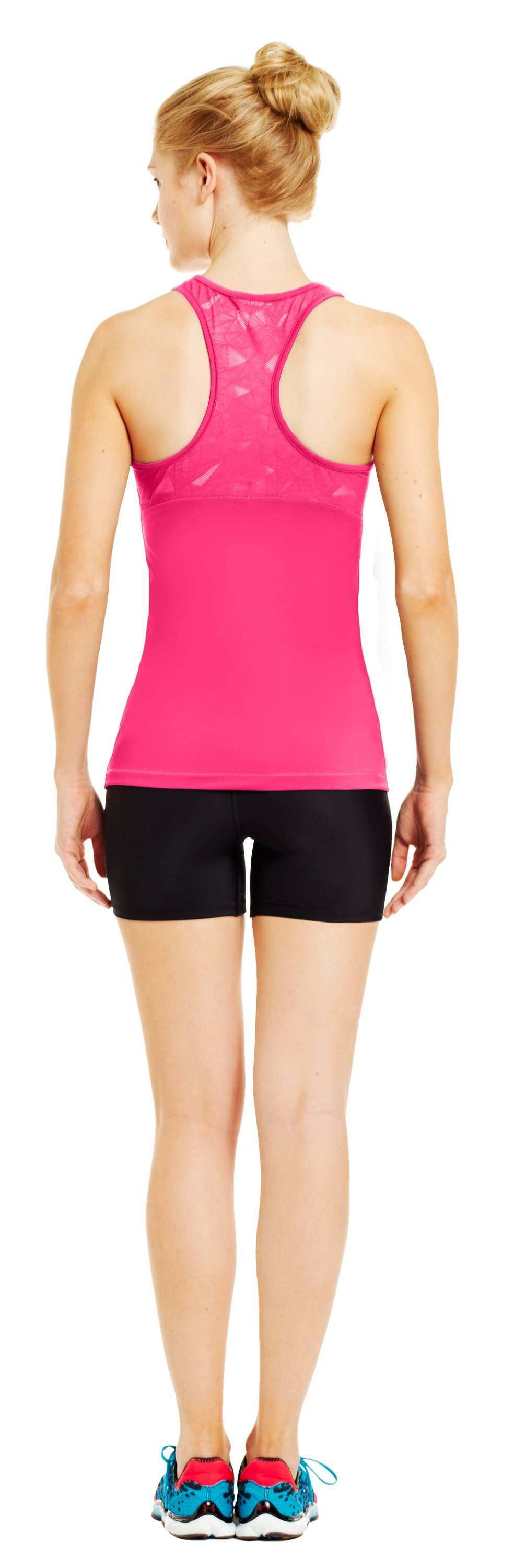 Women's HeatGear® Sonic See It Through Tank, PINKADELIC, Back