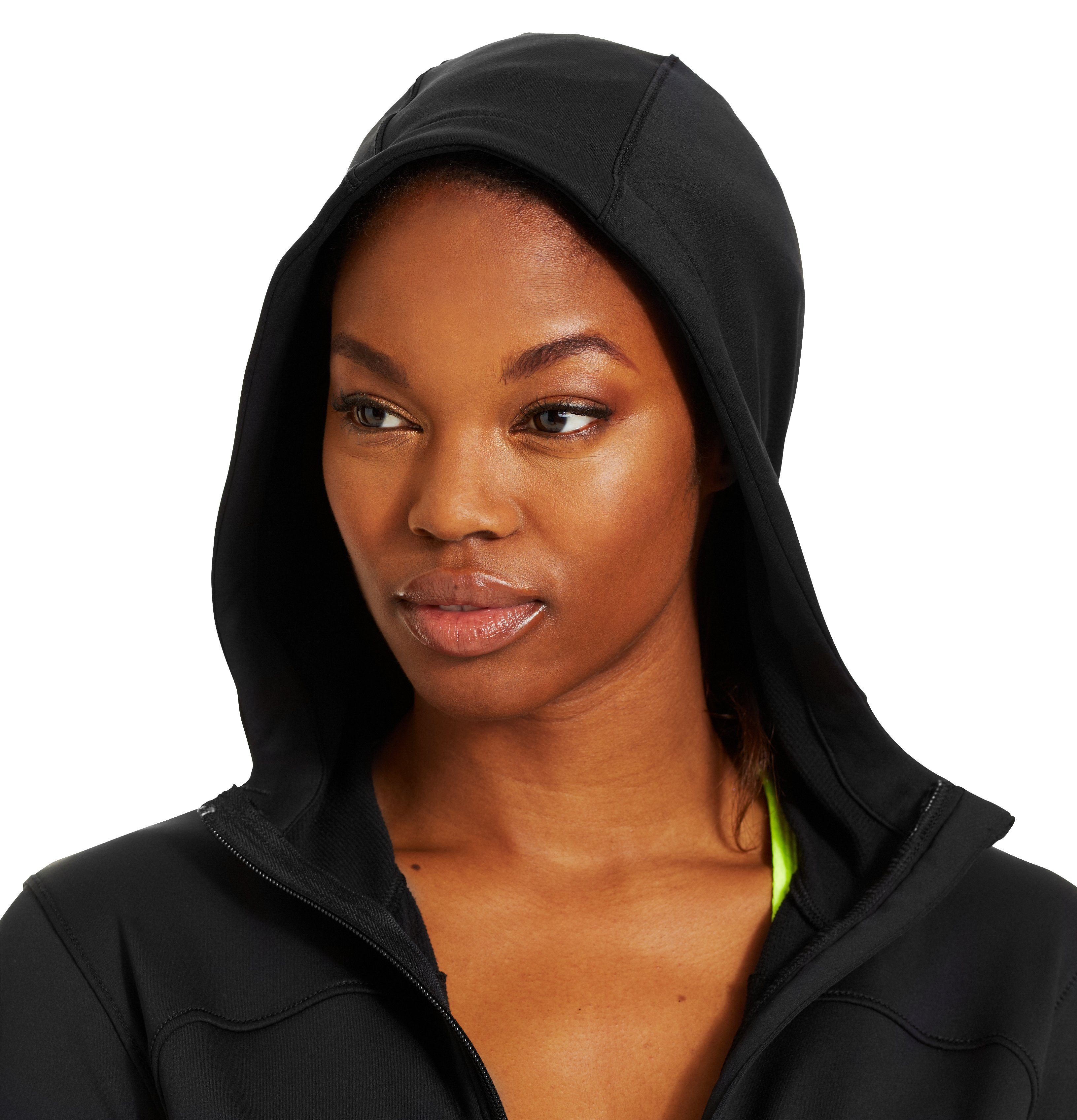 Women's UA Qualifier Knit Full Zip Hoodie, Black