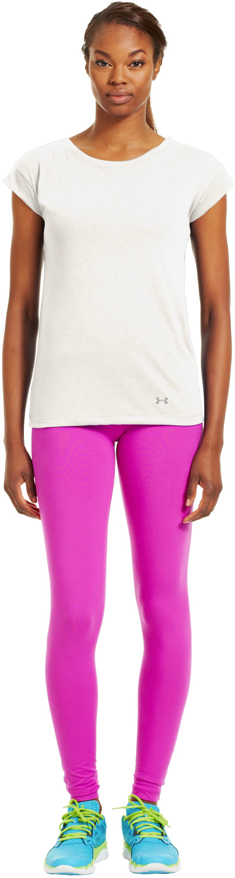 Women's UA Icon T-Shirt, TUSK, Front