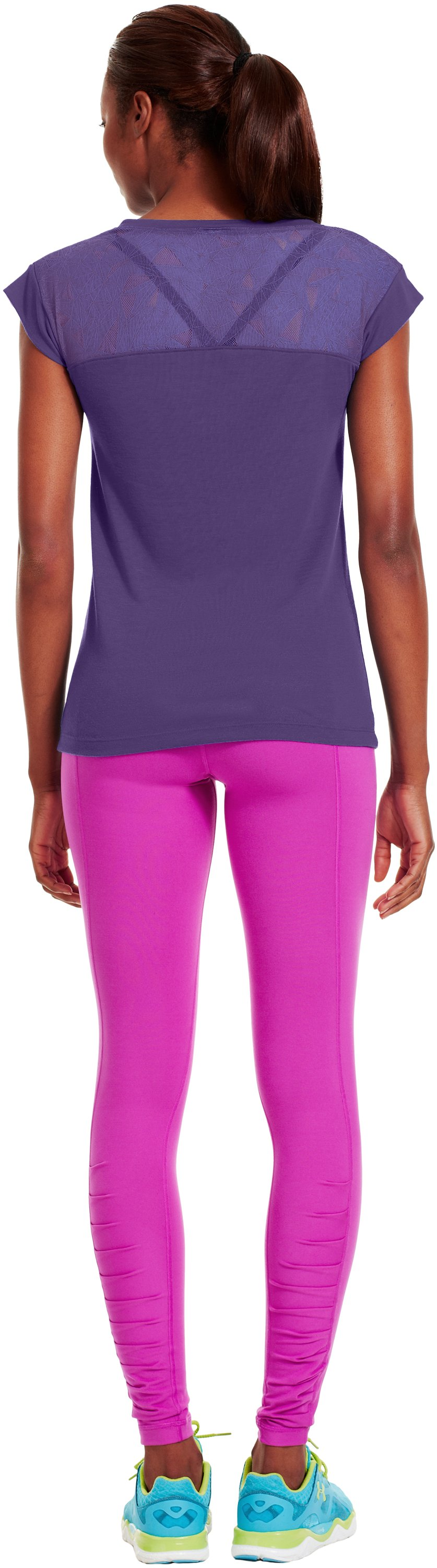 Women's UA Icon T-Shirt, Purple Rain, Back