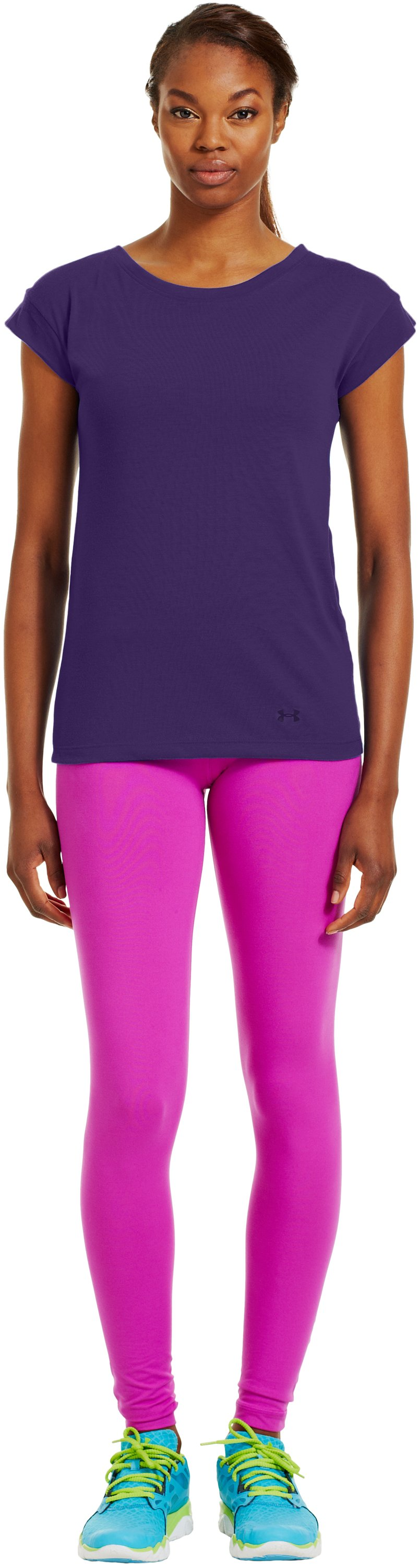 Women's UA Icon T-Shirt, Purple Rain, Front