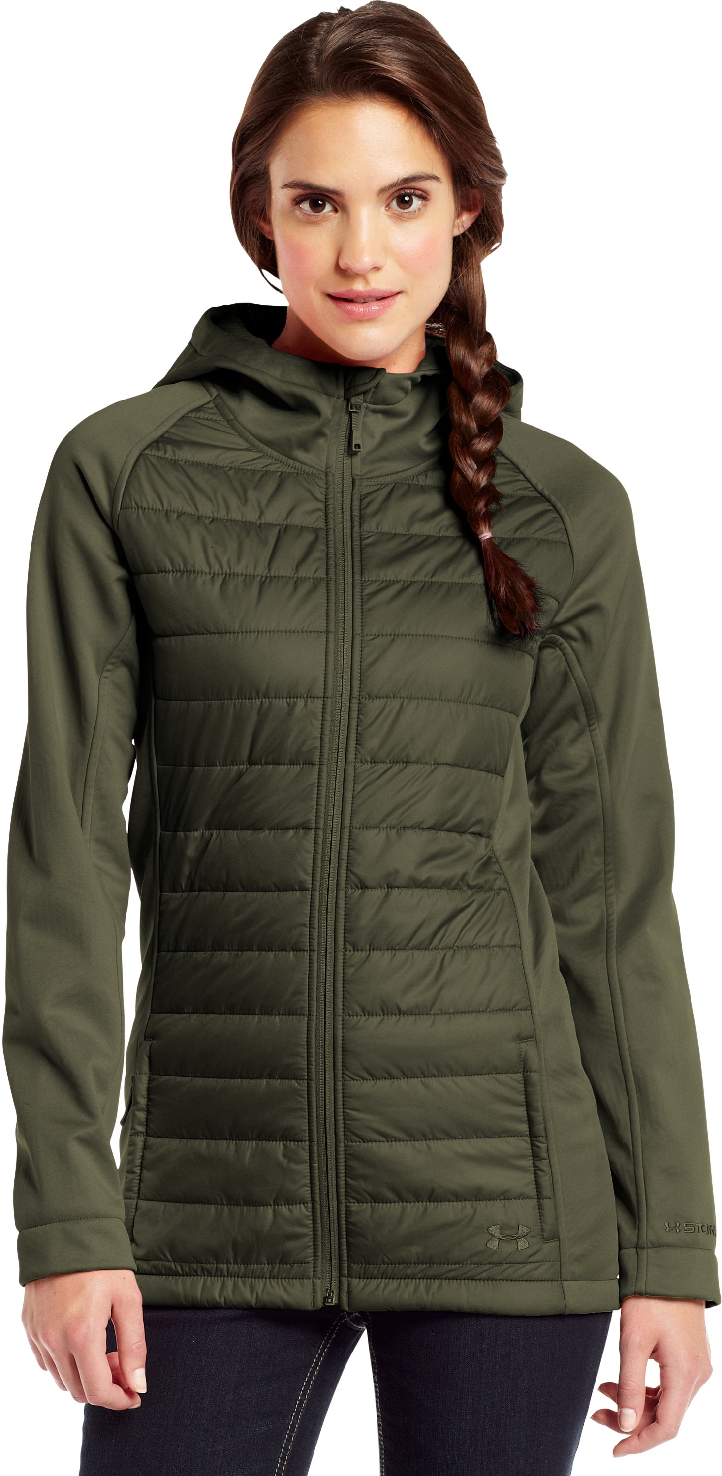 Women's ColdGear® Infrared Werewolf Jacket, GREENHEAD, Front