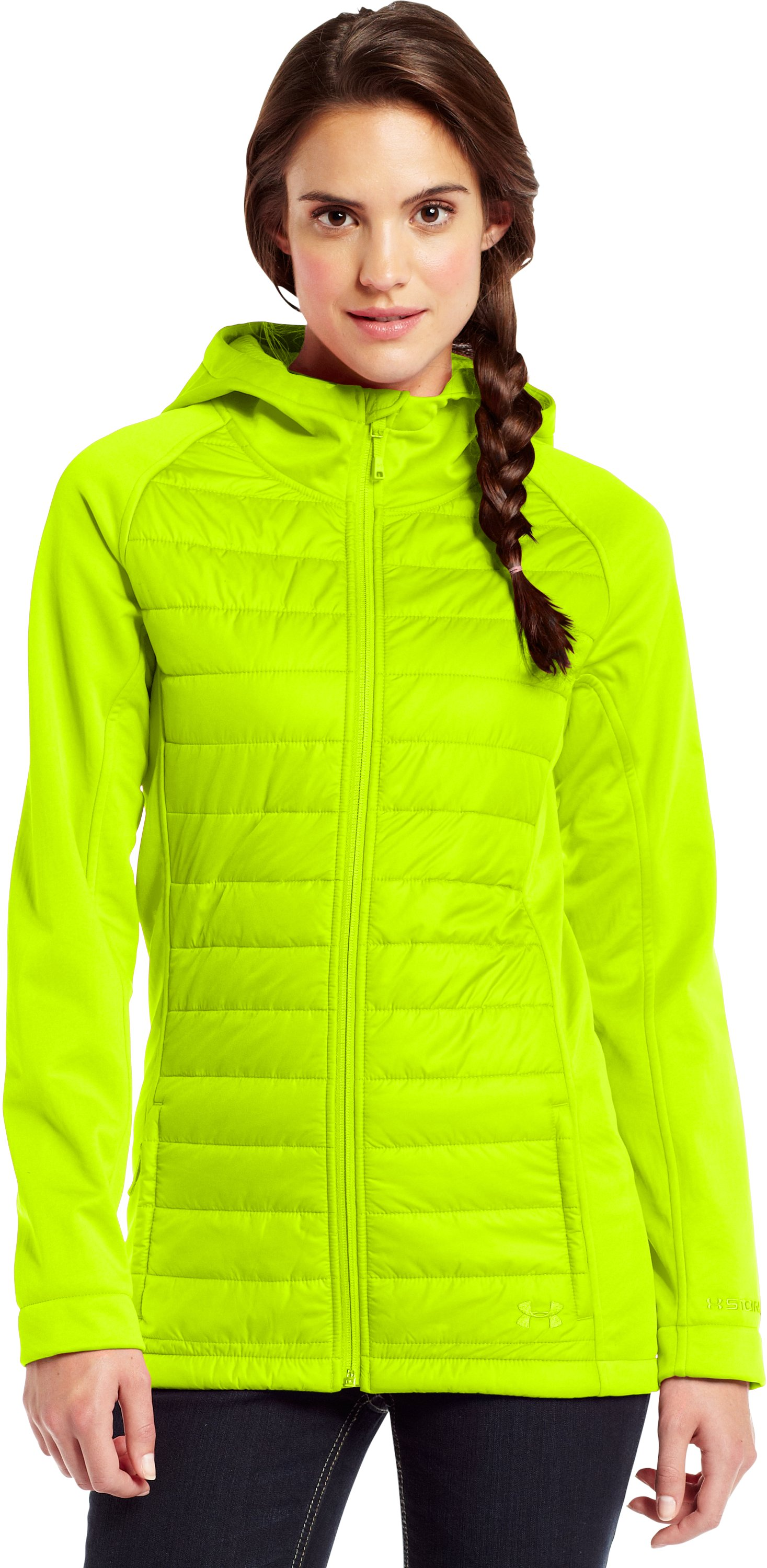Women's ColdGear® Infrared Werewolf Jacket, High-Vis Yellow, zoomed image