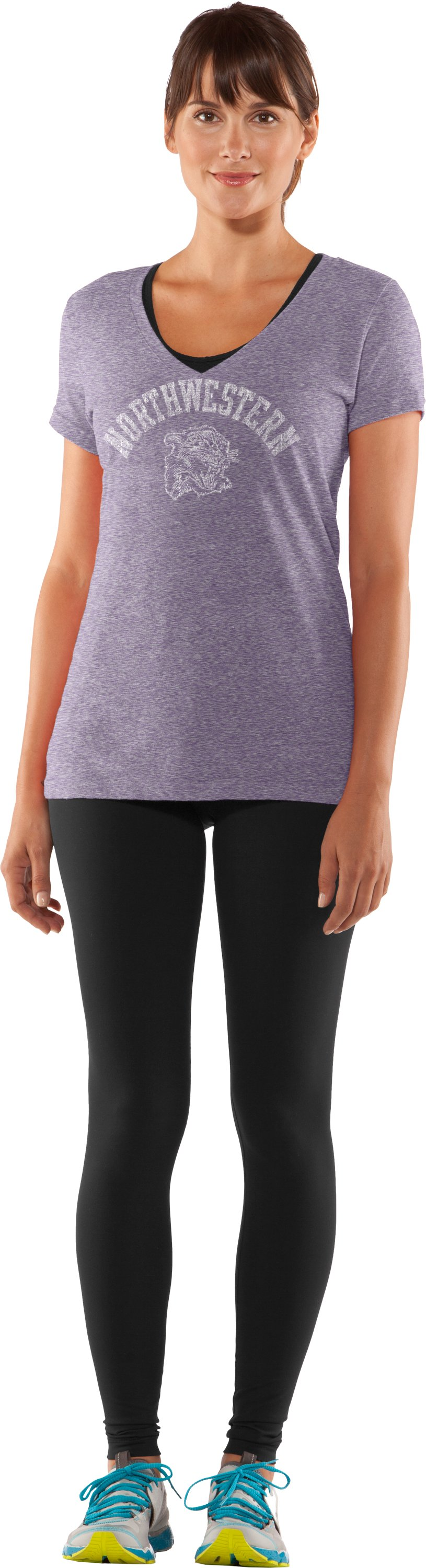 Women's Northwestern Under Armour® Legacy T-Shirt, Purple, Front