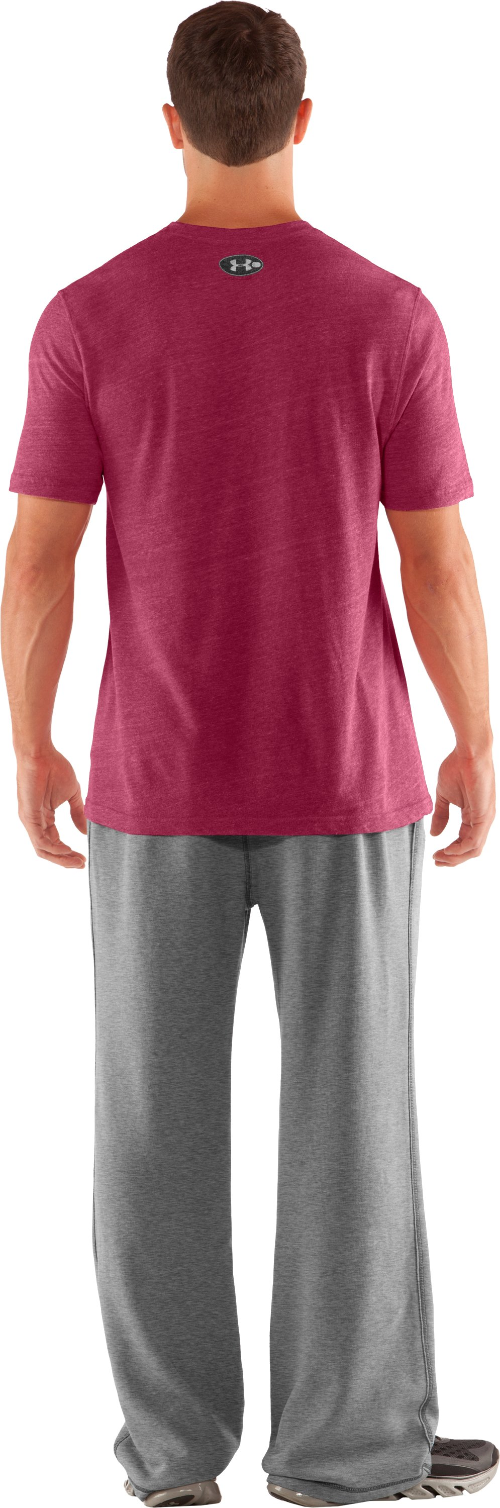 Men's Boston College Under Armour® Legacy Pants, True Gray Heather, Back