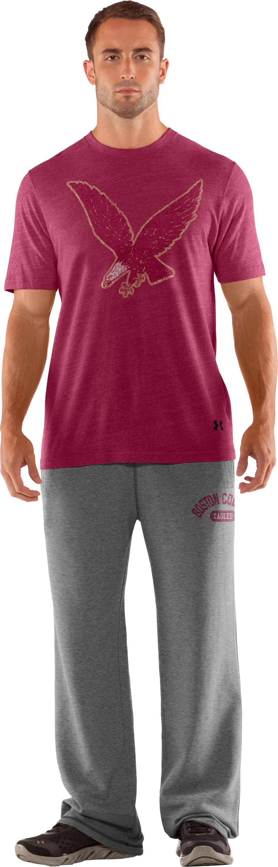 Men's Boston College Under Armour® Legacy Pants, True Gray Heather, Front