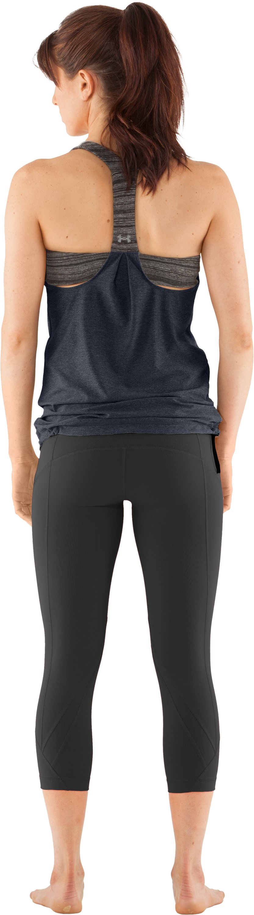 Women's UA Studio Rave N Flow Tank, ANTHRACITE, zoomed image