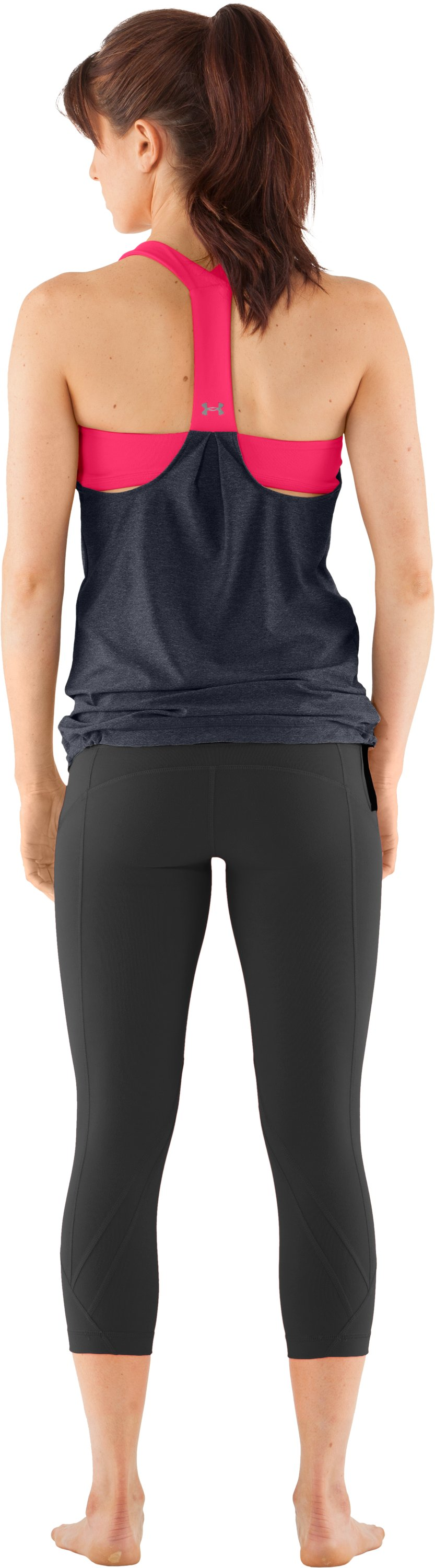 Women's UA Studio Rave N Flow Tank, ANTHRACITE