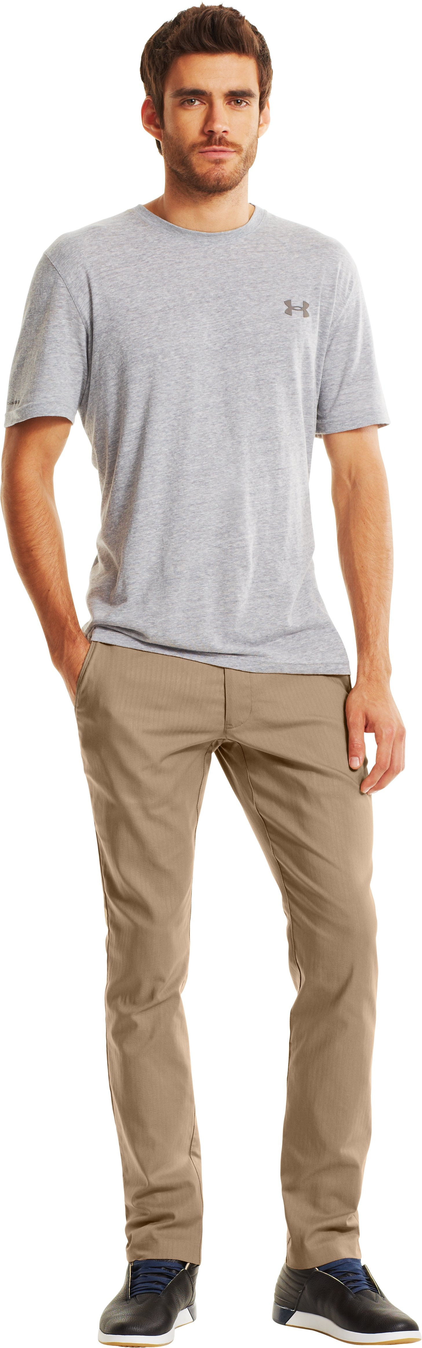 Men's UA Performance Chino – Tapered Leg, Camel, zoomed image