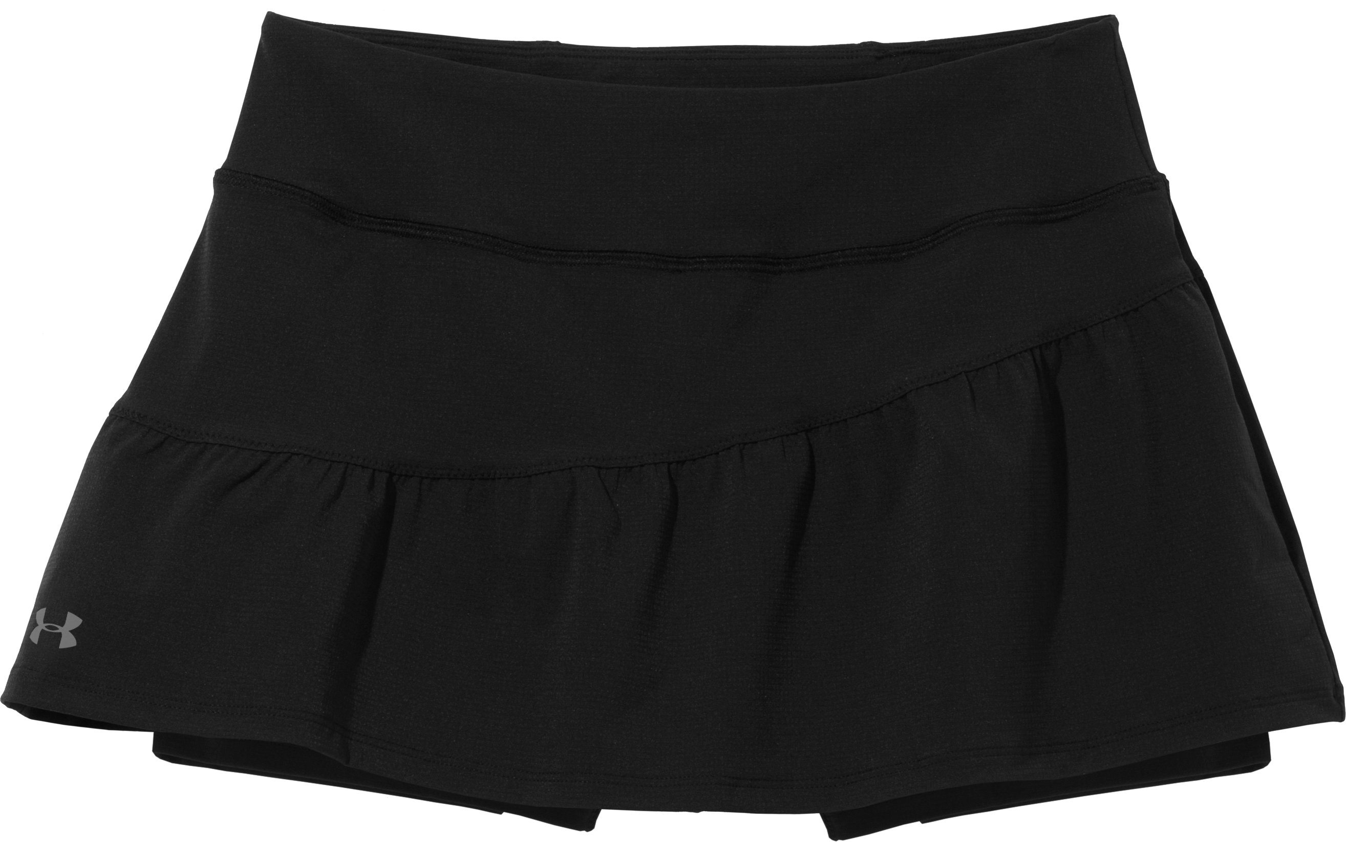 Women's UA Run Stretch Woven Skort, Black , Laydown