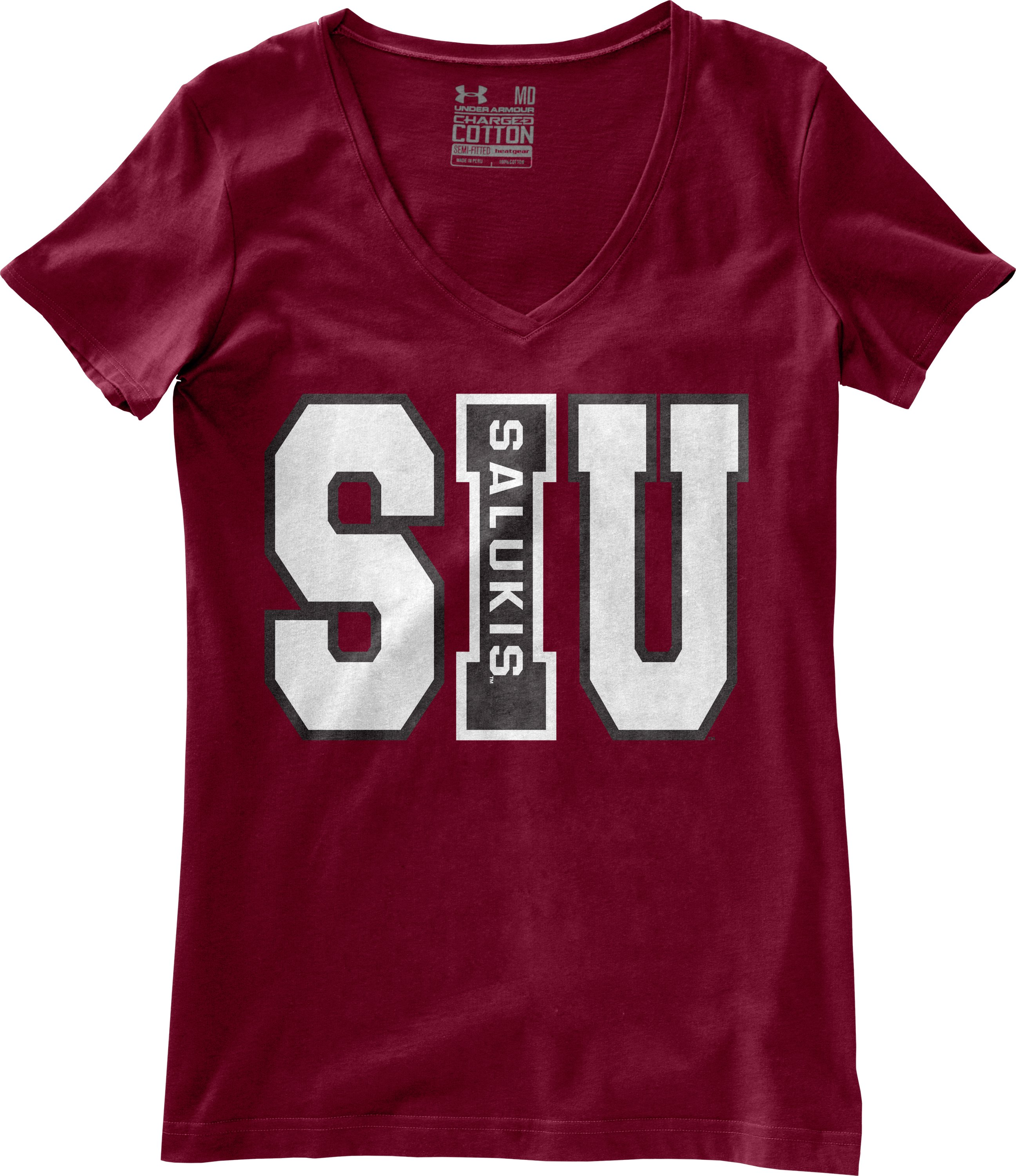 Women's Southern Illinois Charged Cotton® T-Shirt, Maroon, Laydown