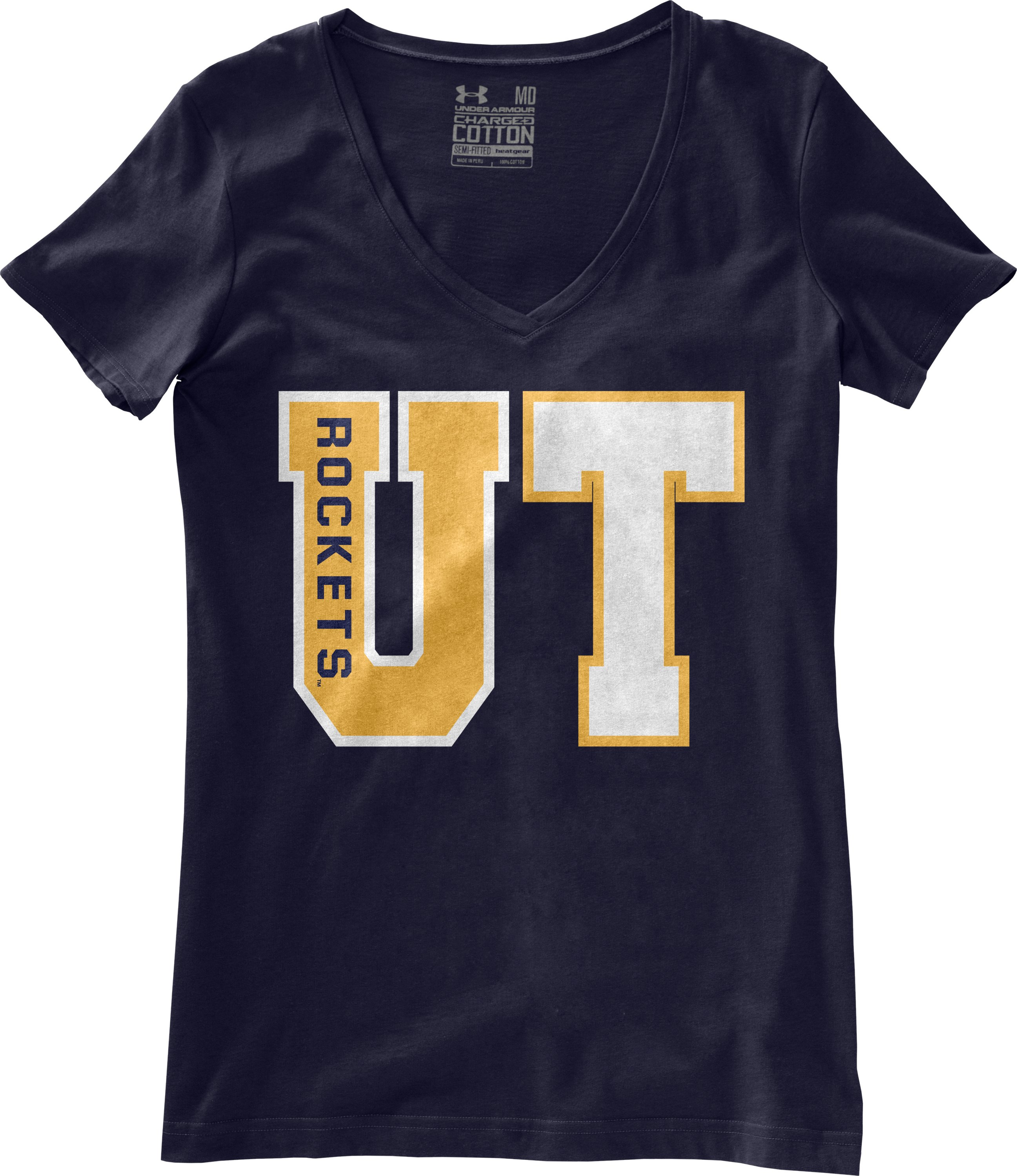 Women's University of Toledo Charged Cotton® T-Shirt, Midnight Navy, Laydown