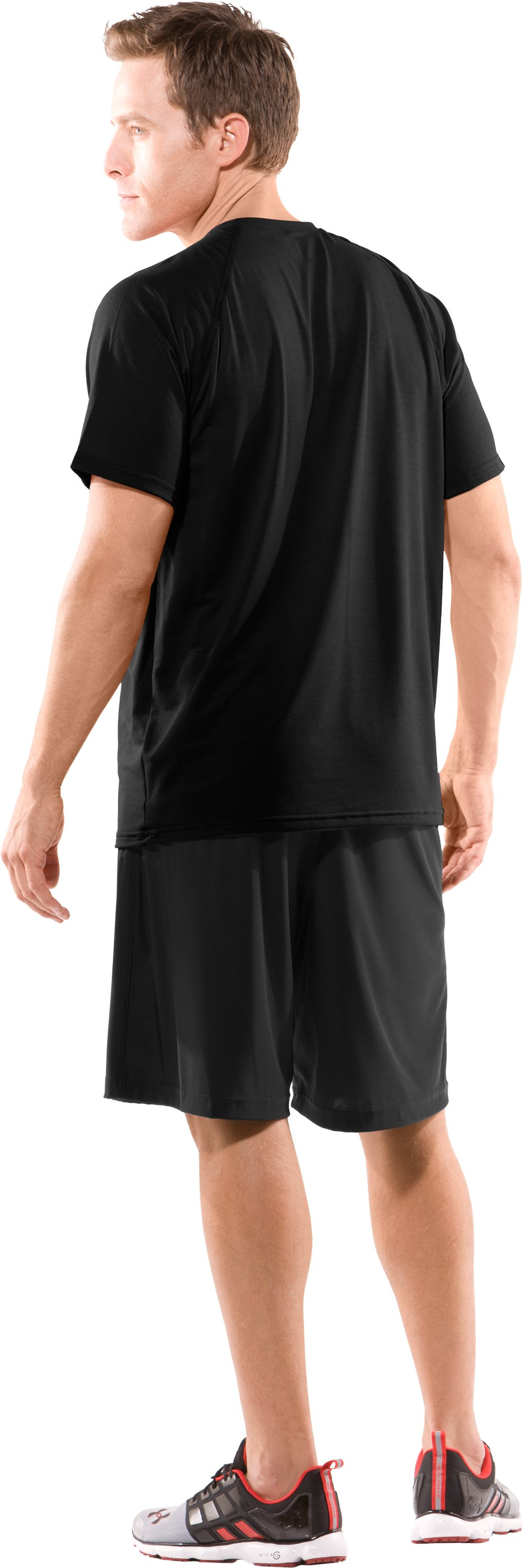 Men's Texas Tech UA Micro Shorts, Black , Back