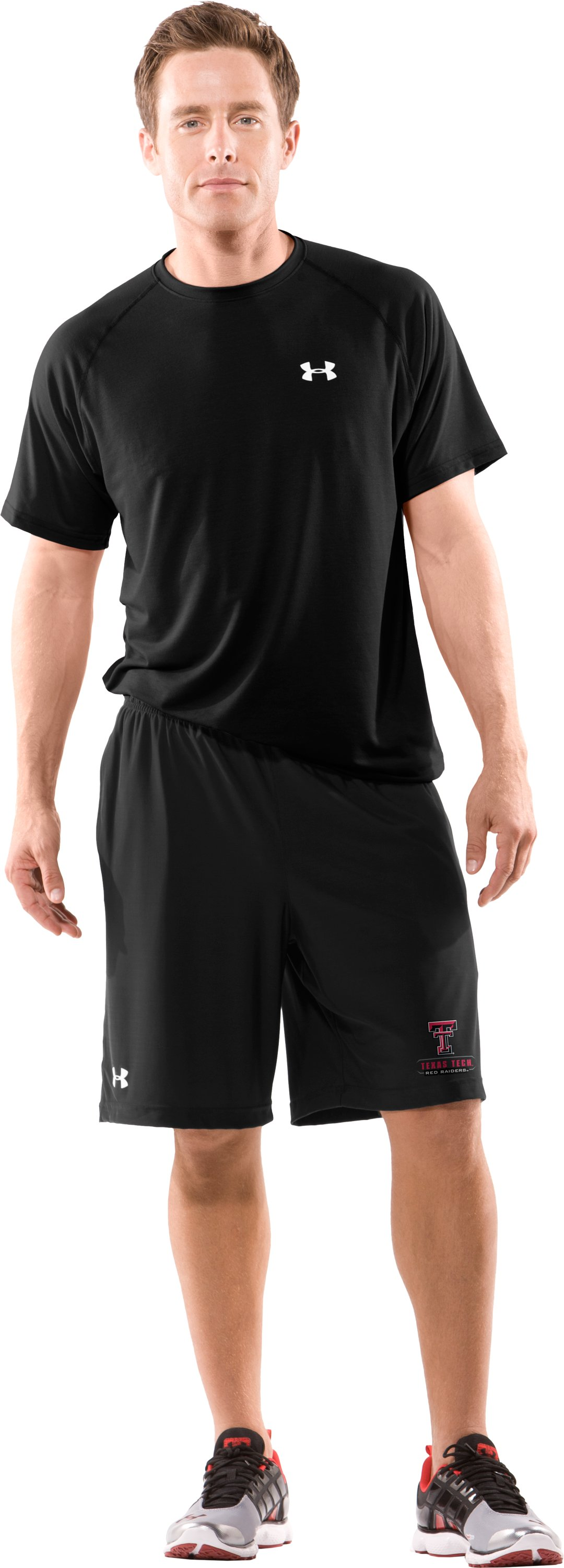Men's Texas Tech UA Micro Shorts, Black , Front