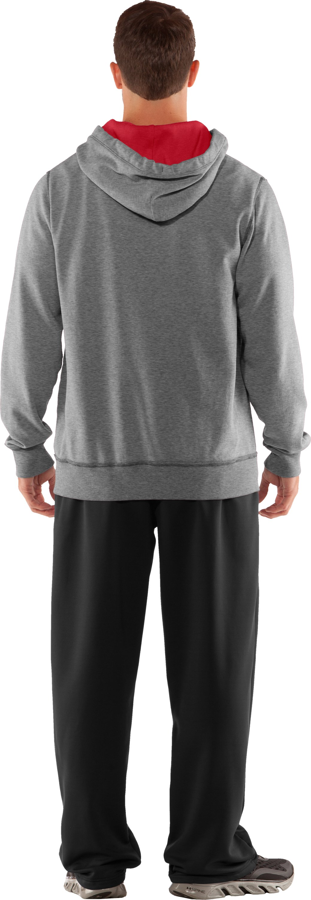 Men's Texas Tech Under Armour® Legacy Hoodie, True Gray Heather, Back
