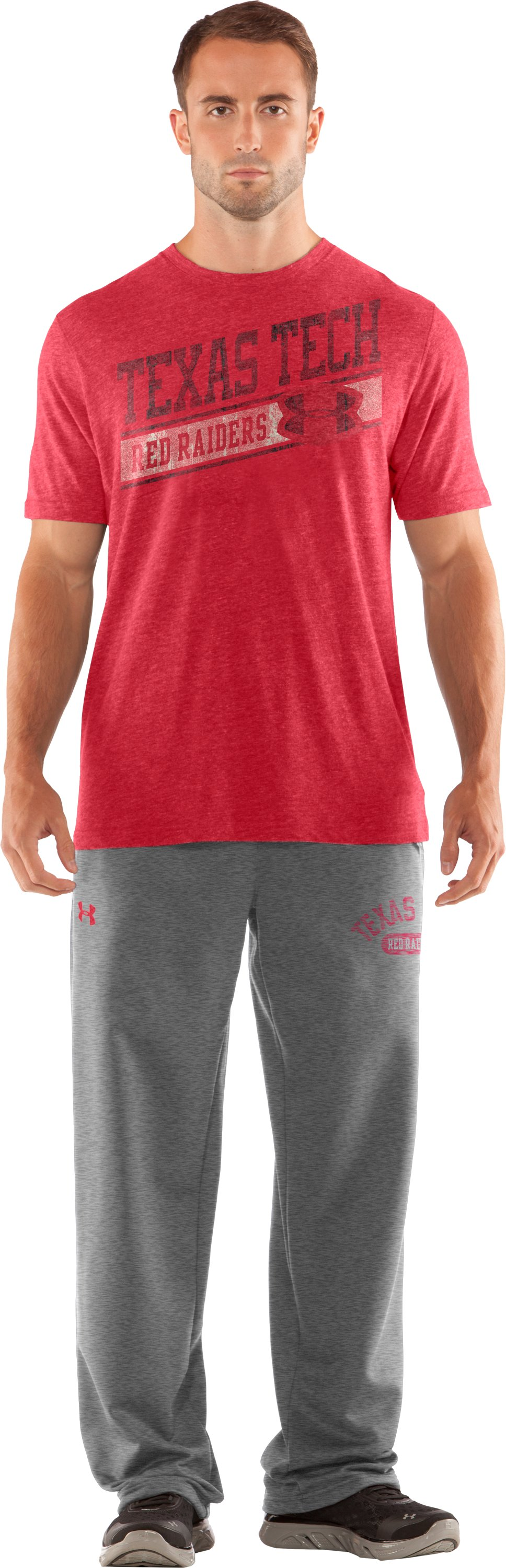 Men's Texas Tech Under Armour® Legacy Pants, True Gray Heather, Front
