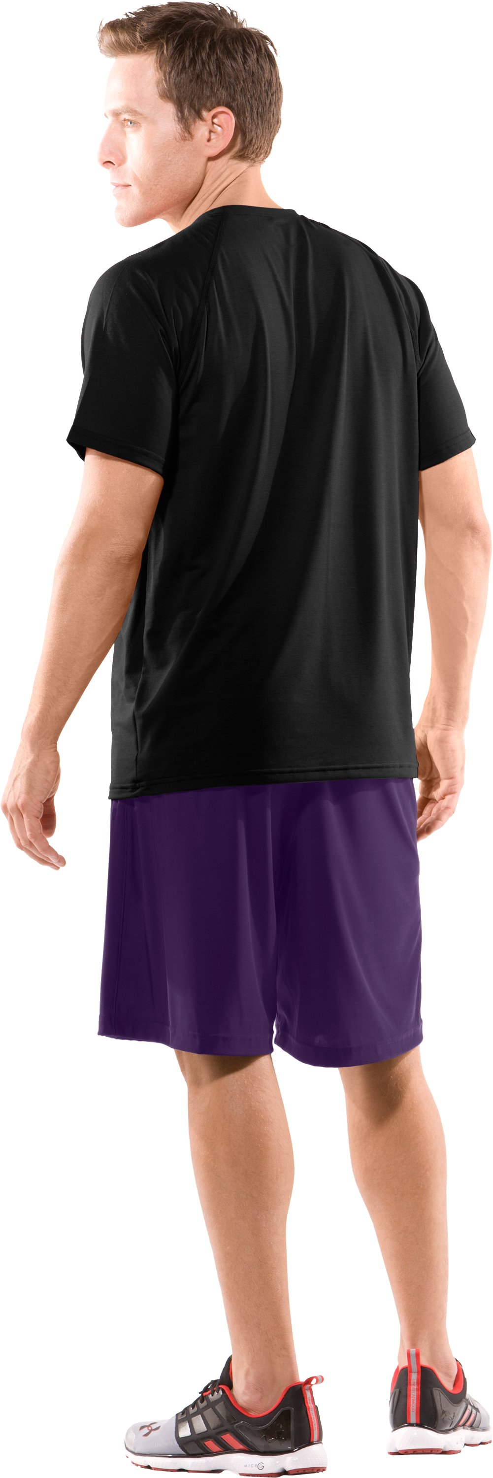 Men's Northwestern UA Micro Shorts, Purple, Back
