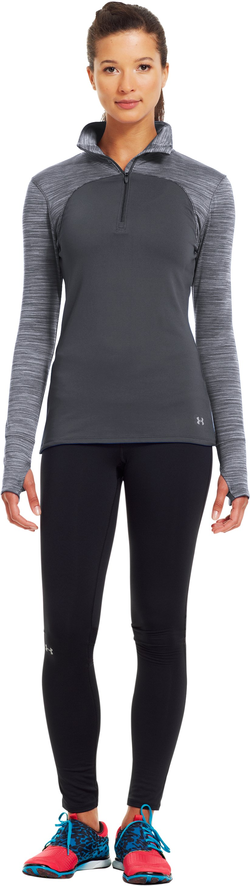 Women's UA Printed Qualifier ¼ Zip, Lead, Front