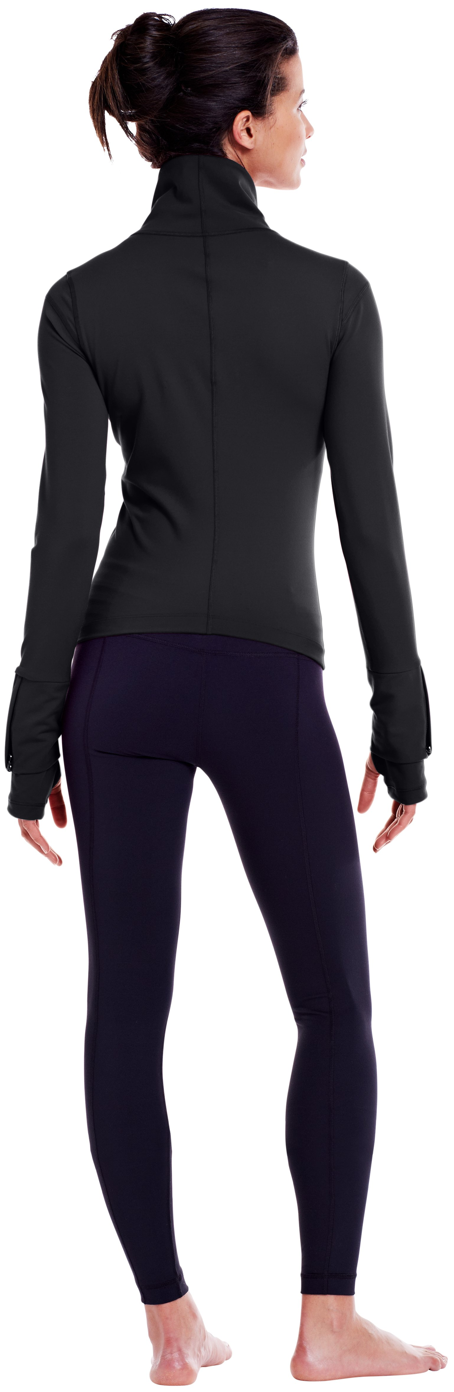 Women's UA StudioLux® Essential Jacket, Black , Back