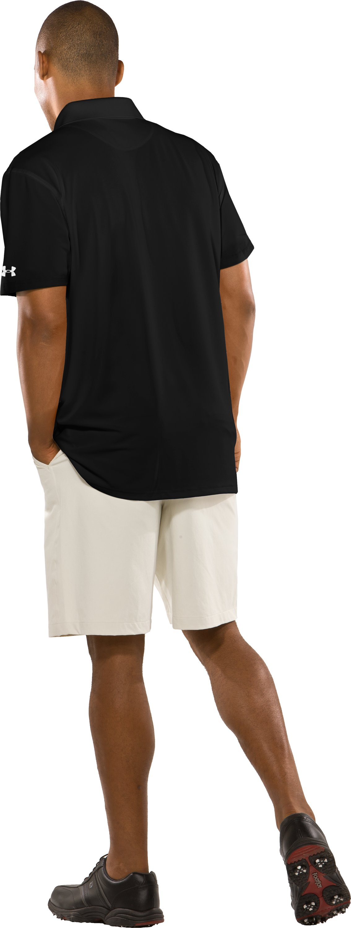 Men's Hawai'i UA Collegiate Polo, Black , Back