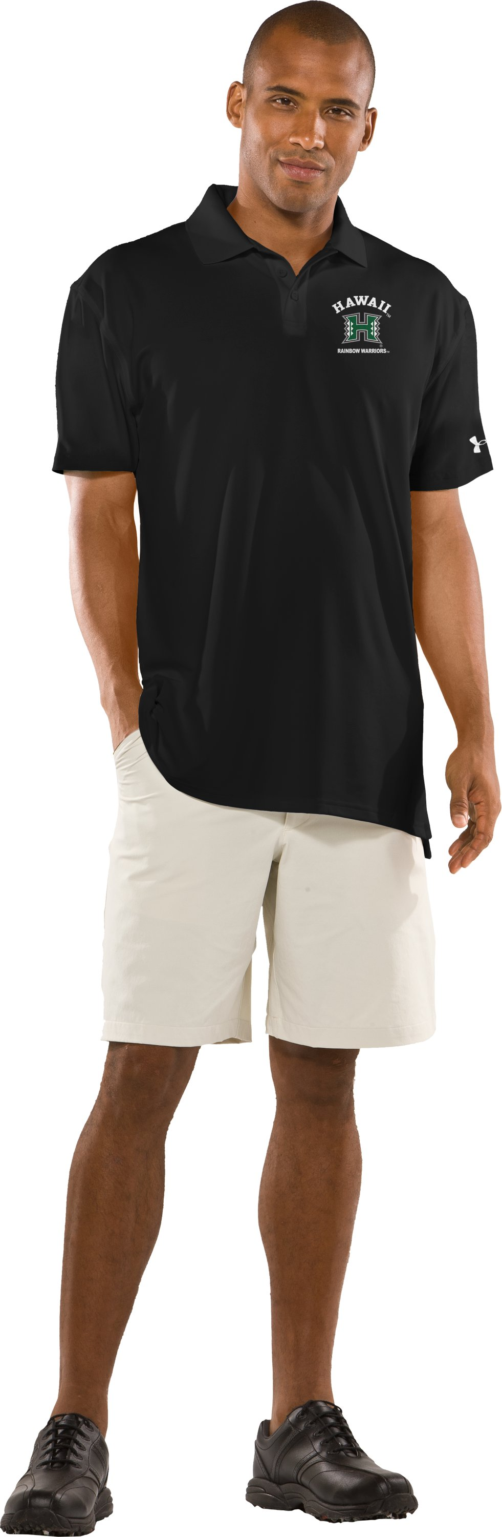 Men's Hawai'i UA Collegiate Polo, Black , Front