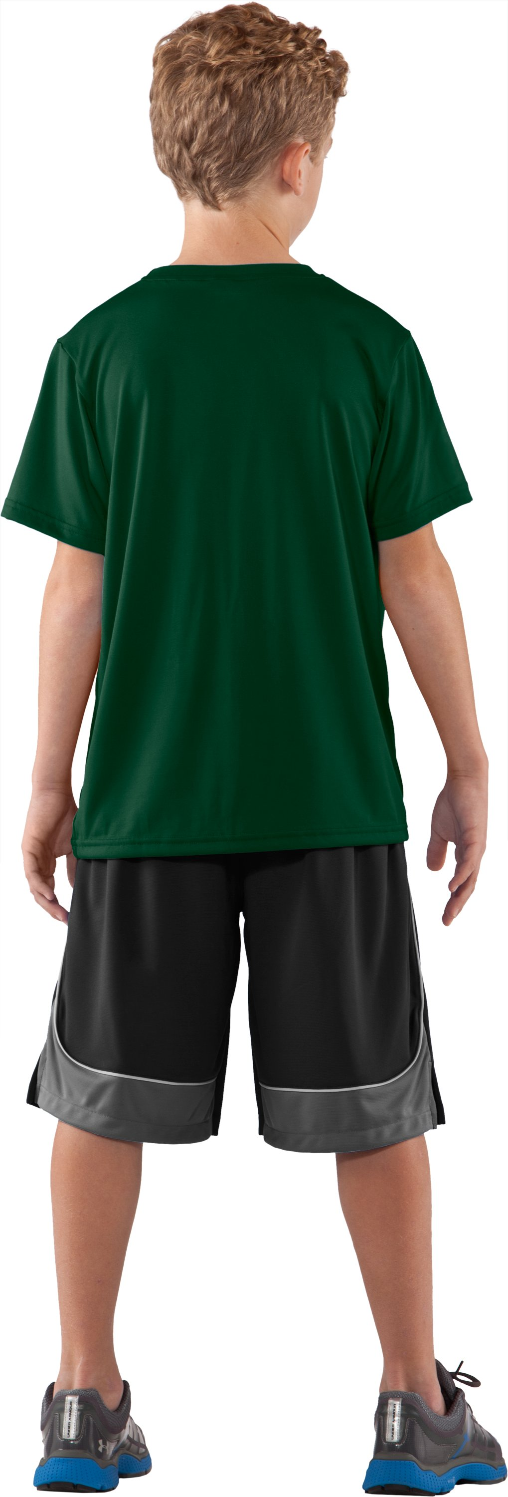 Boys' Hawai'i UA Tech™ T-Shirt, Forest Green, Back
