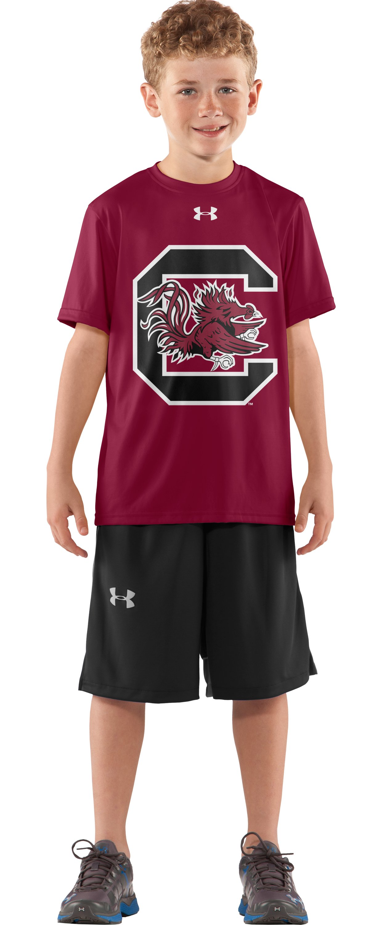 Boys' South Carolina UA Tech™ T-Shirt, Cardinal, zoomed image