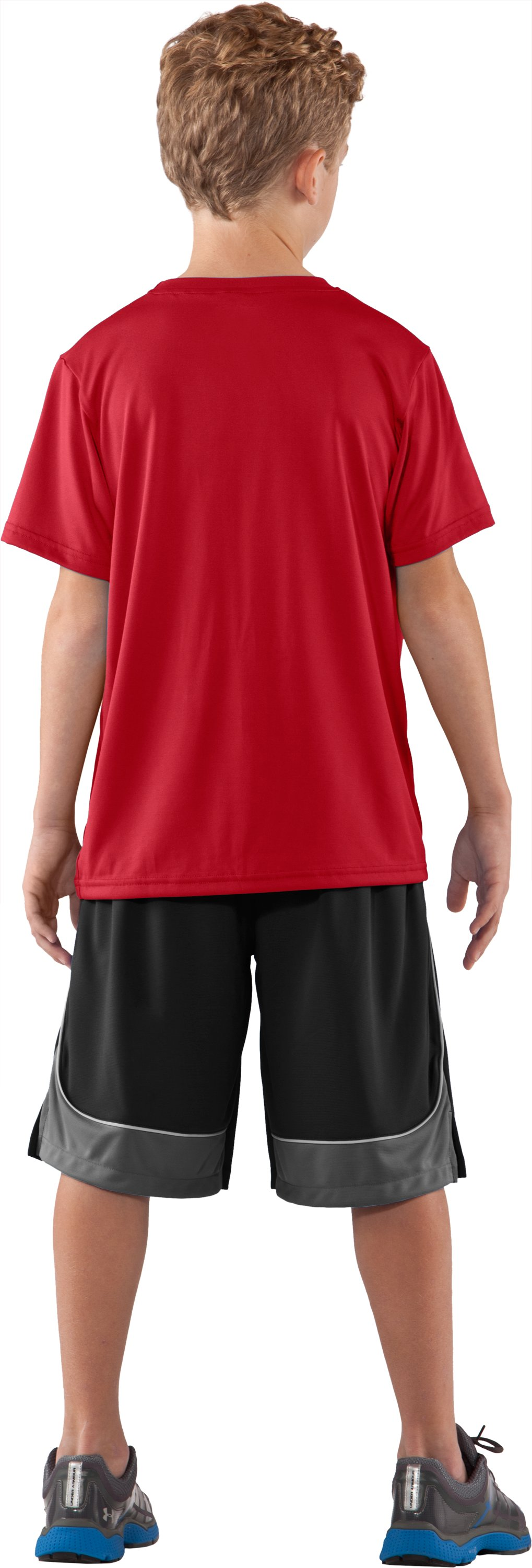 Boys' Utah UA Tech™ T-Shirt, Red, Back