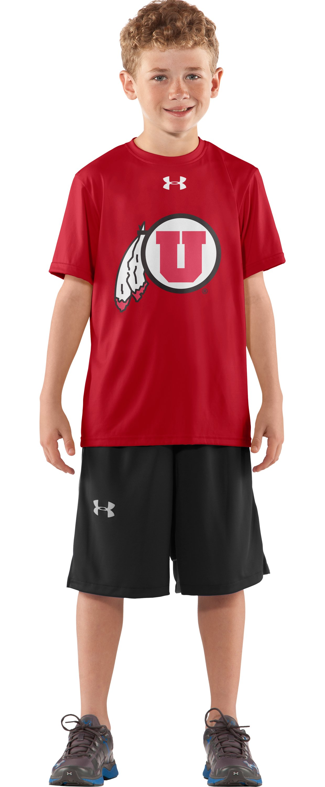 Boys' Utah UA Tech™ T-Shirt, Red, Front