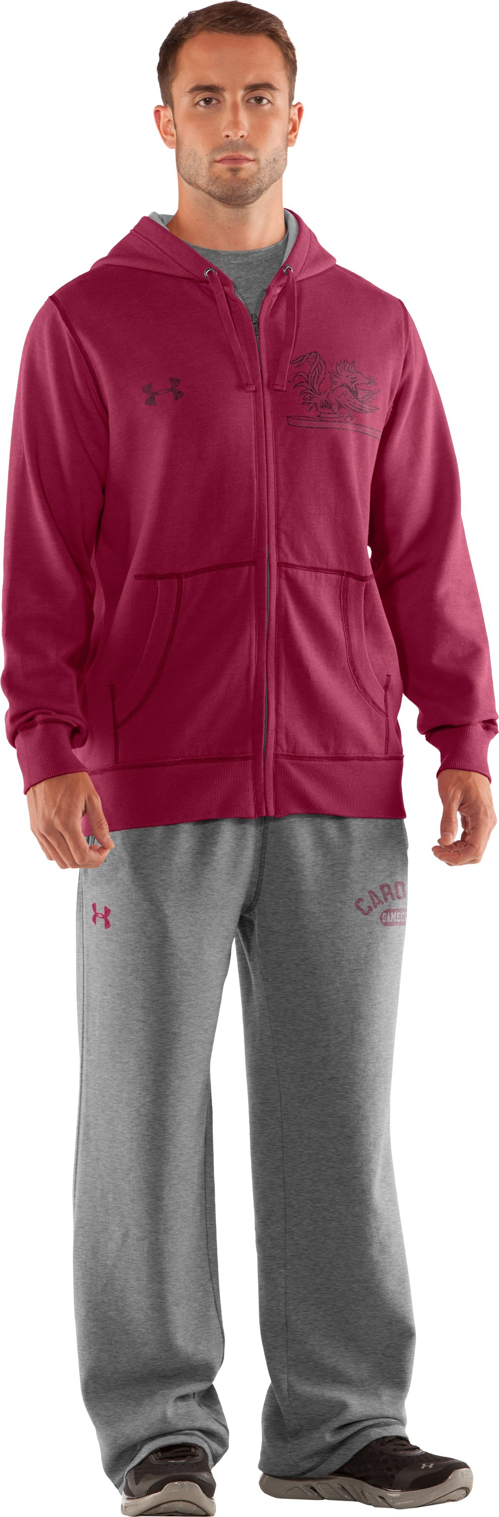 Men's South Carolina Under Armour® Legacy Hoodie, Cardinal, Front