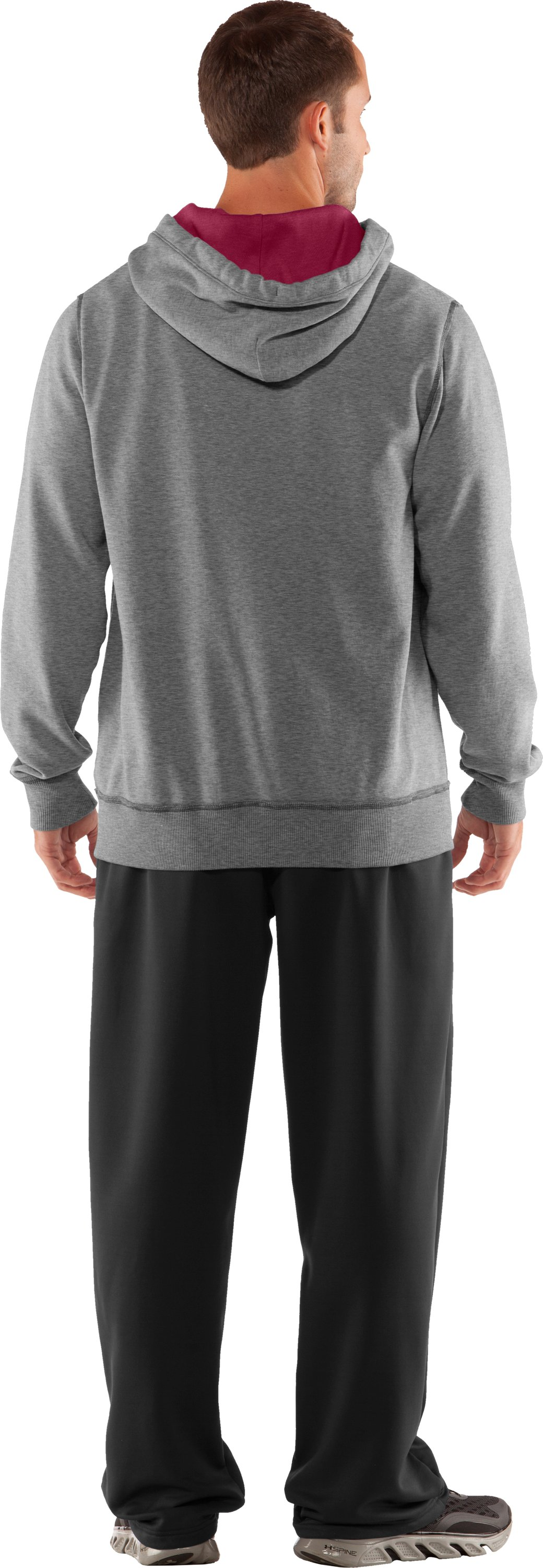 Men's Temple Under Armour® Legacy Hoodie, True Gray Heather, Back