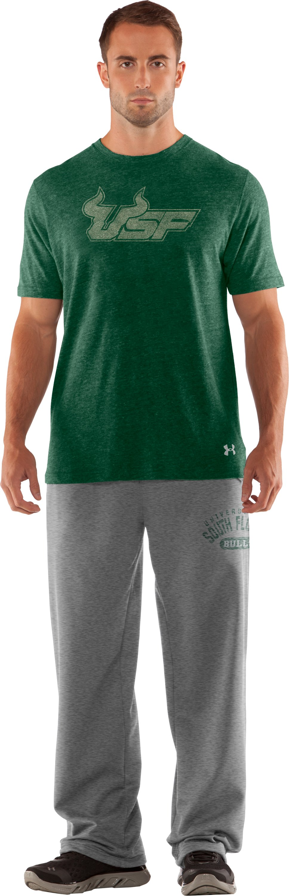 Men's South Florida Under Armour® Legacy Pants, True Gray Heather, Front
