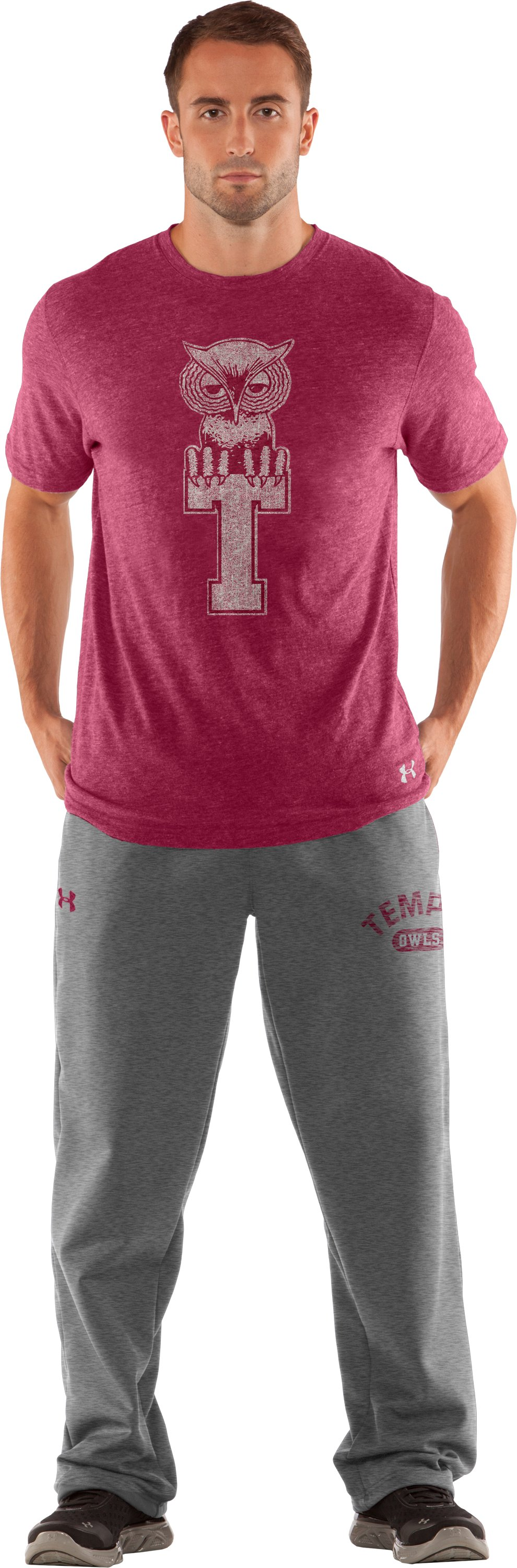Men's Temple Under Armour® Legacy Pants, True Gray Heather, zoomed image