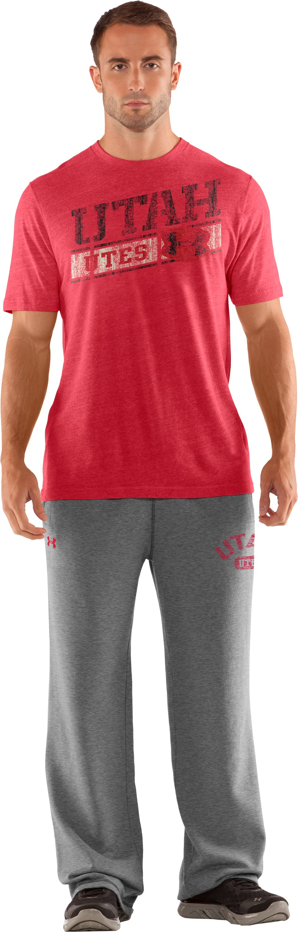 Men's Utah Under Armour® Legacy Pants, True Gray Heather, Front
