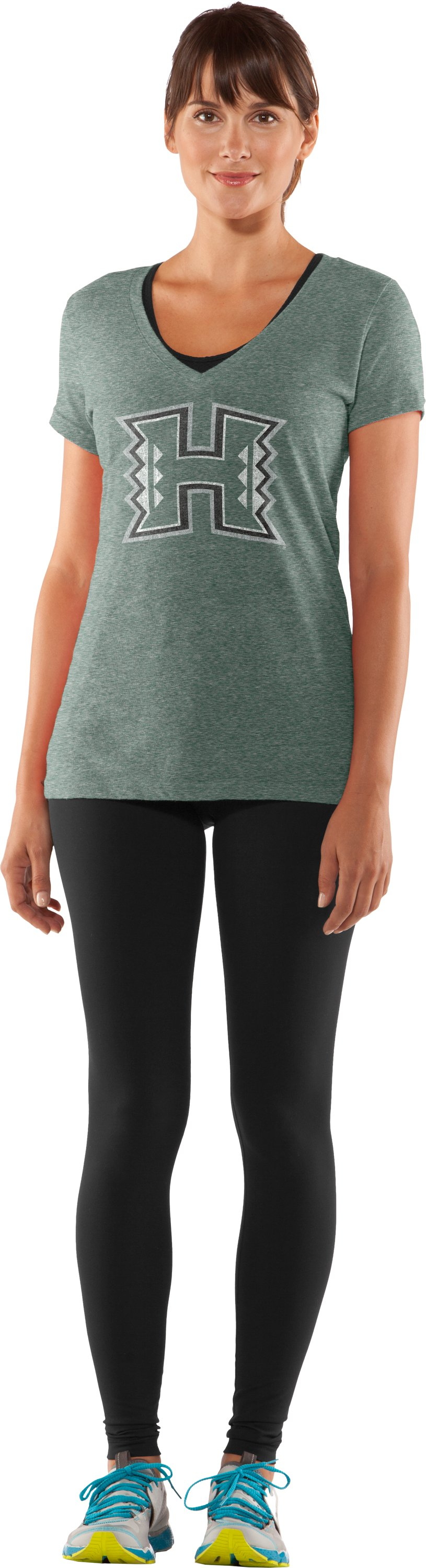 Women's Hawai'i Under Armour® Legacy T-Shirt, Forest Green, zoomed image